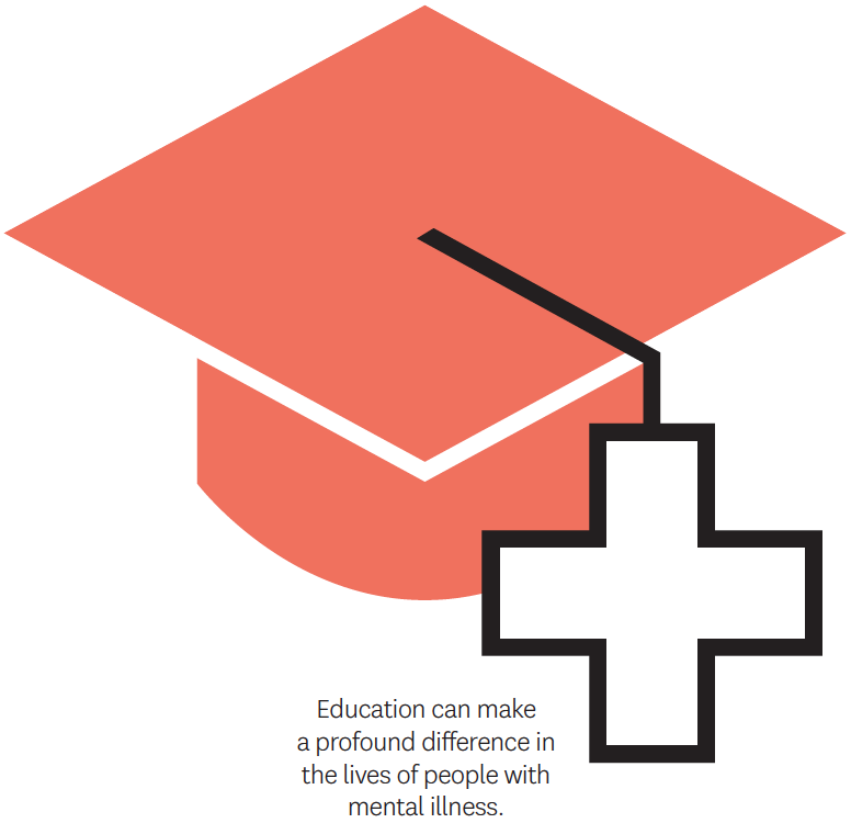 Education can make a profound difference in the lives of people with mental illness.